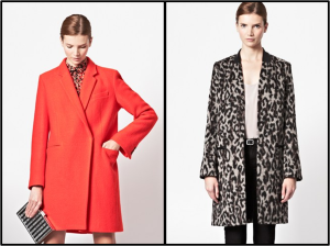 French Connection  Belle Boucle Wool Coat $348 Teddy Leopard Coat $298